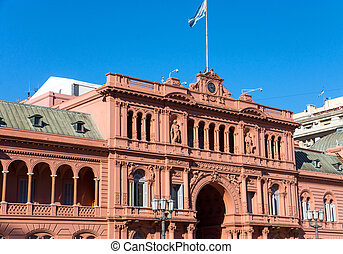 Detail of the Casa Rosada in Buenos Aires