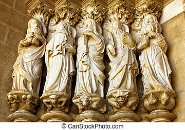 Detail of the Cathedral of Evora, Alentejo, Portugal
