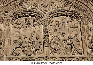 Detail of the cathedral of Salamanca, Castilla y Leon, Spain