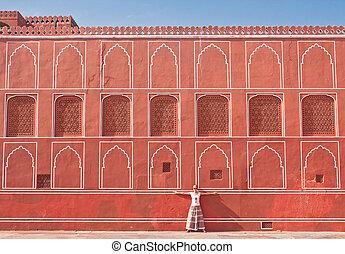 Detail of the City Palace. Jaipur