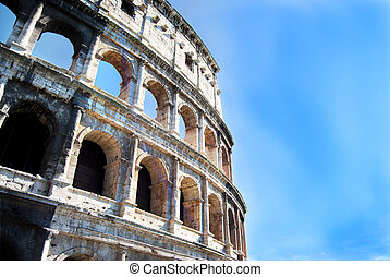 detail of the Colosseum in Rome