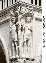 Detail of the Doge Palace - Venice Italy