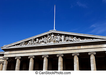 British Museum - Detail of the exterior of the British...
