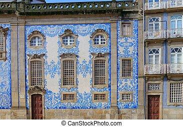 Igreja do Carmo - Detail of the facade of the church. Igreja...