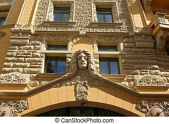 Detail of the facade
