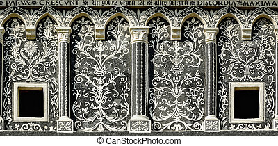 Fasade - Detail Of The Fasade Of A Building In Presov, ...