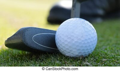 detail of the game of Golf - Game of golf. Putter and Golf...
