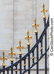 Detail of the gate of Buckingham Palace