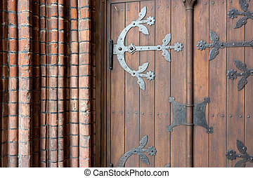 Detail of the gate of the old cathedral in Riga