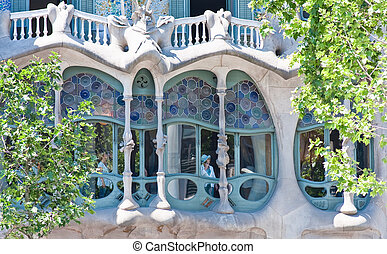 Detail of the house of Casa Mila
