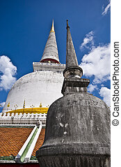 detail of the huge temple complex Wat Phra Mahathat in Nakhon Si Thammarat
