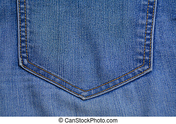 detail of the jean pocket