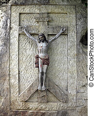 Jesus Christ - relief carven in sand stone