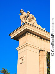 Detail of the monument to Soviet soldiers in Vienna. Austria