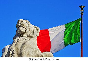 Monumento Nazionale a Vittorio Emanuele II in Rome, Italy - ...