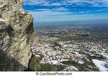 Detail of the Mount Titano in San Marino
