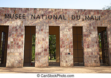 Detail of the entrance of the National Museum of Mali in Bamako