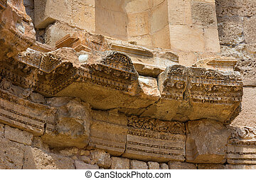 Detail of the Nymphaeum Jerash in Jordan