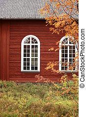 Detail of the old church (gamla kyrka) in Jokkmokk, Swedish Lapland.