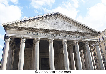 detail of the Pantheon in Rome