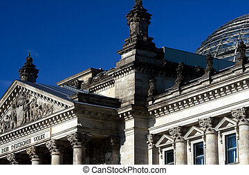 Detail of the Reichstag building