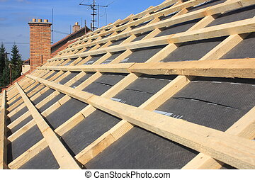 detail of the roof - Detail of the roof battens without ...