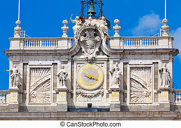 Royal Palace in Madrid - Detail of the Royal Palace in...