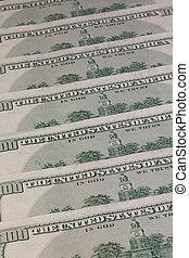 Detail of the same pattern of dollar bills