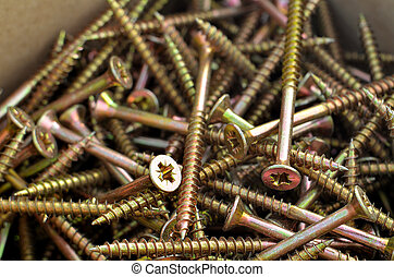 Detail of the screws in the box