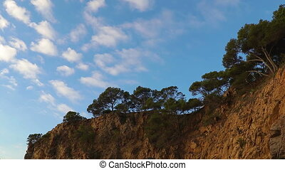 Detail of the Spanish coast at summer (Catalonia,Costa Brava), time lapse