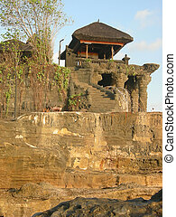 Detail of the Tanah Lot temple, Bali island, Indonesia