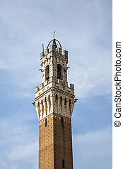 Torre del Mangia in Siena, Italy - Detail of the Torre del ...