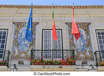 Detail of the Town hall in Cascais