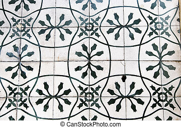 Detail of the traditional tiles background.