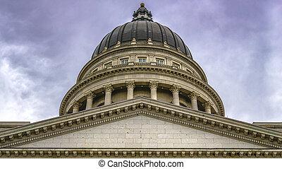 Detail of the Utah State Capitol in Salt Lake City