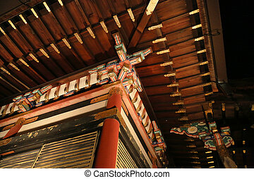 Detail of the very complex Japanese temple roof
