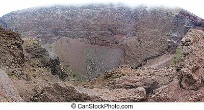 Detail of the Vesuvius crater