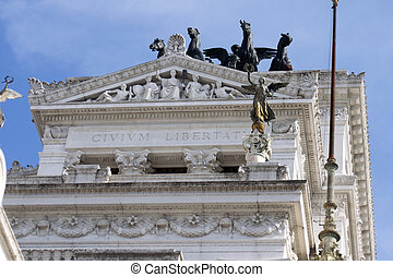 detail of the Vittoriano in Rome