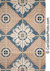 Traditional Portuguese ceramic tile