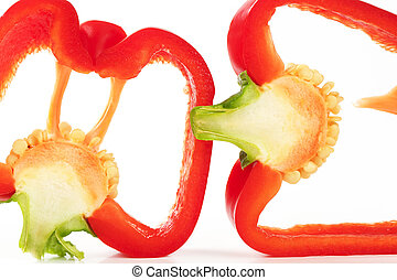 slices of red pepper