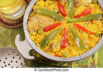 typical cuban dish - Detail of typical cuban dish - Salted...