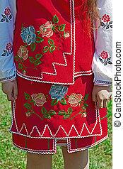Detail of ukrainian female folk costume 1