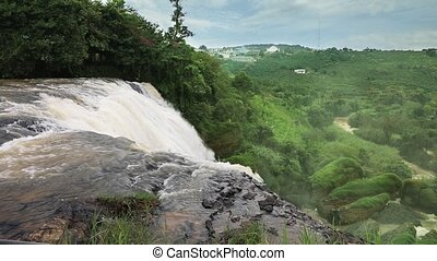 Detail of waterfall Elephant, Vietnam - The upper waterfall...
