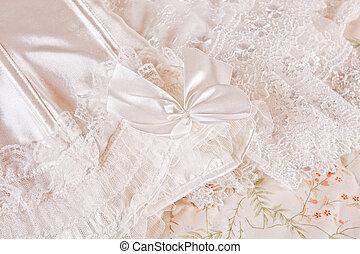 Detail of wedding lingerie