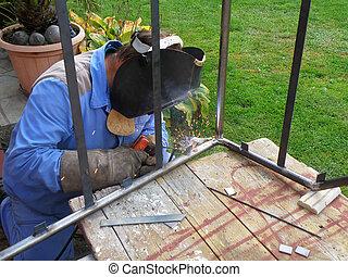 detail of welding