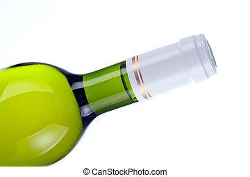 Detail of wine bottle