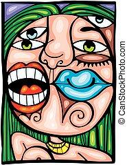 detail of woman lips