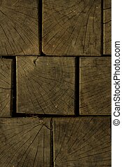 Detail of wooden blocks. Wooden background.