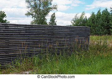 Detail of wooden fence