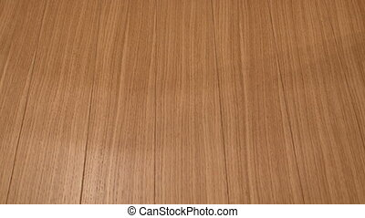 Detail of wooden floor on a yacht